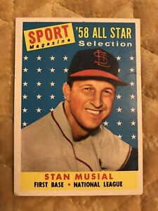 1958 Topps Stan Musial St. Louis Cardinals #476 Baseball Card