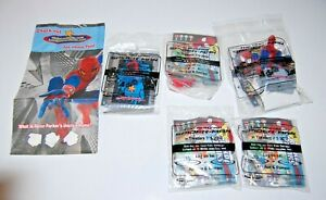 Complete Set of 5 Amazing Spiderman Hardee's Carl Jr's 2012 Kids Meal Toys