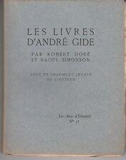 DORÉ et SIMONSON, Les livres d'André Gide (1923) Les Amis d'Édouard N° 51.