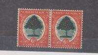 South Africa 1938 6d Pair Die II SG61b MH JK2602