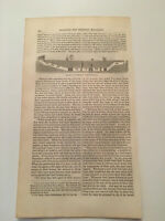 K19) Harper's Monthly Rome Catacombs Section of Cemetery Original 1855 Engraving