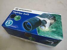 Bresser Spy visión nocturna monocular nocturno alcance NV 3 X 42 c/w Estuche y Batería