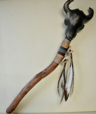 More details for native american indian medicine rattle stick genuine hand made najavo