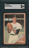1962 Topps Set Break # 460 Jim Bunning SGC 5 Not PSA *OBGcards*