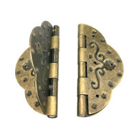 2Pcs Vintage Antique Brass Mini Hinges for Wooden Furniture Box Hardware #5