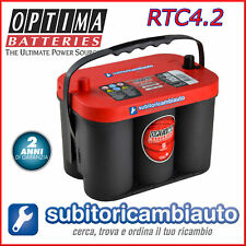 BATTERIA OPTIMA RTC4.2 REDTOP ROSSA 50Ah RT C 4.2 RED TOP