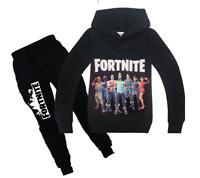 Fashion Kids Boys Fortnite Long Sleeve Shirt Tops+Pants A Suits  6-14 Years #H