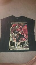Hulk vs Hulkbuster Iron Man Avengers Age of Ultron T-Shirt Men's XL Extra Large