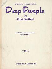 'Deep Purple' (Piano Solo) - Peter De Rose/Herman Wasserman, arr.