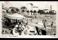 """SAINT-RAPHAEL (83) RESIDENCES , PLAGE animée & HOTEL """"LES ALGUES"""" en 1939"""
