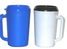 Insulated Mugs, Large 20 Ounce, 2 Pack, Granite Blue, Made in America, Lead Free