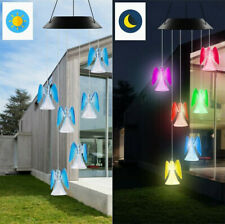 Solar Color Changing Led Angel Wind Chimes Home Garden Yard Decor Light Lamp Us