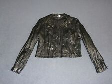 H&M / Divided Faux Leather Black Biker Jacket, size 12 AU, NWOT