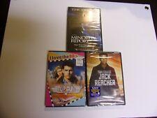 New- Top Gun/ Minority Report/ Jack Reacher Dvd Lot Of 3 New Tom Cruise