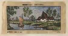 Tapex Vienna Austria Printed Needlepoint Canvas Fischerhaus W561 Country Scene