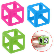 For Fidget Cube Stress Relief Focus Toy Protective Cover Case Pink/Green/Blue