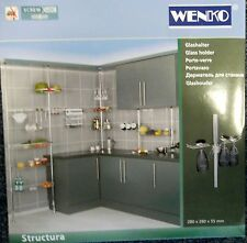 Gläser-Halter Wenko für  Regalsystem Structura Teleskopregal Küche Bad Bar