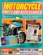 lot of 4 J C Whitney Motorcycle Parts catalogs 1991-01