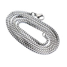 1PC Stainless Steel Silver Tone 2mm Box Chain Necklace 51cm