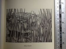 Vintage woodcut cat book print 'Summer Field' by Hilary Paynter
