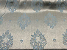 Spa Blue Damask Excellent for Drapery Fabric 56 inches wide By the yard