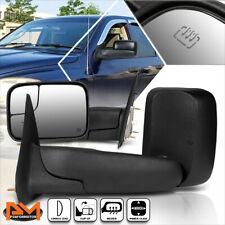 For 02-09 Dodge Ram 1500/2500/3500 Powered+Heated Black Side Towing Mirror Pair