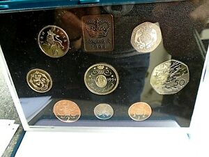 1994 ROYAL MINT UK PROOF SET OF 8 COINS WITH C.O.A ORIGINAL HARD CASE D-DAY 50 P