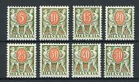 Schweiz Portomarken MiNr. 42-49 x postfrisch MNH (W600