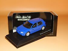 VW GOLF IV GTi 1999 blau  Sondermodell Generation Golf  Minichamps  1/43 O V P