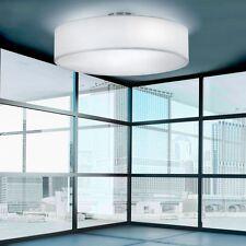 Decken Beleuchtung Luxus Lobby Wohnraum rund Diele Nickel weiss Sockel 3x E27