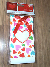 NIP : PACKAGE OF 6 VALENTINE HEART TREAT BAGS (3.46 IN X 1.97 IN X 5.9 IN)