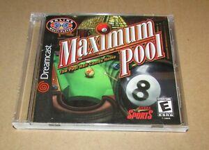 Maximum Pool (Game & Manual) Sega Dreamcast Fast Shipping