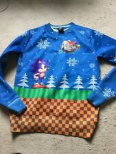 Sonic The Hedgehog Christmas Jumper Game Sega Unisex S Small