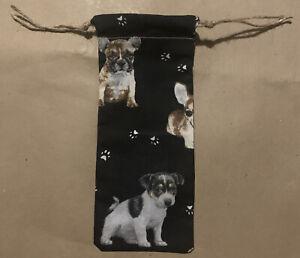 Dog Pattern Handmade Drawstring Gift Bag