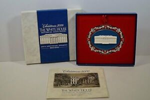 n4) Weihnachts Christbaum Schmuck Anhänger The White House Christmas 2000 USA