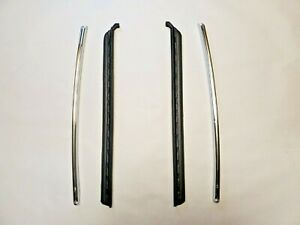 New 1968-1972 Pontiac 2dr Chrome Sash & Quarter Window Seal - Set