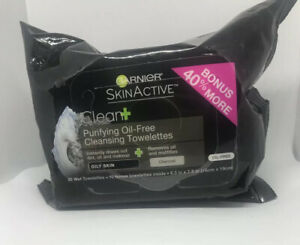 Garnier Skin Active Purifying Oil Free Cleansing Towelettes  New
