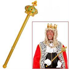 GOLDENES KÖNIG ZEPTER # Kaiser Herrscher Prinzen Mittelalter Kostüm Zubehör 9090