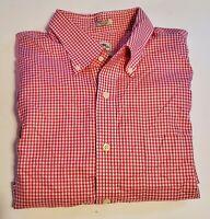 Peter Millar Long Sleeve button down  shirt NANOLUXE EASYCARE Men's  XL 19-18