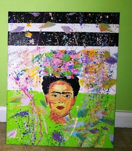 Green Splattered Frida Kahlo