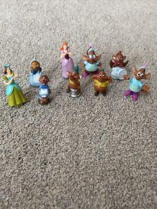 "Disney Cinderella Lot Of 9 Mini Figurine PVC Figurines 1"""