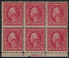 US Stamps - Scott # 499 - Plate # Block of 6 - Mint Never Hinged         (E-320)