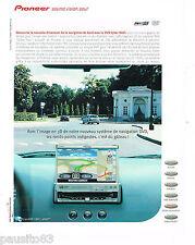 PUBLICITE ADVERTISING 065  2001  PIONEER  navigation de bord CYBER NAVI AVX