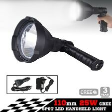 25W CREE LED Handheld SEARCH LIGHT SPOTLIGHT Hunting shooting 12V rechargeable