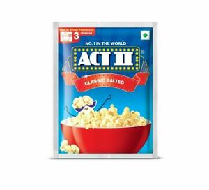 Act II Classic Salted Flavour 3 Minutes 40gm Pack of 10