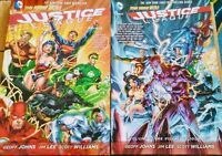 Justice League New 52- Softcover TPB Volumes 1&2 (Origin, A Villain's Journey)