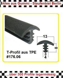 1m Gummiprofil (€ 6,95/m) Dichtung T-Profil Fugendichtung 176.06 aus BERLIN
