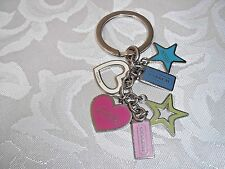 Authentic Coach Hearts & Stars Charm Mix Keychain FOB FS1628 Rare