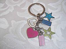 Authentic Coach Hearts & Stars Charm Mix Keychain FOB FS1628 Rare