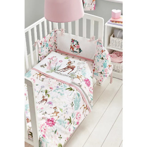 Disney Baby Girls Bambi 4 Tog Quilt and Bumper - Cot & Cot Bed Bedding Set - NEW